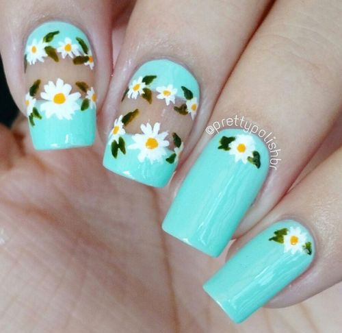 50-Best-Cute-Simple-Spring-Nail-Art-Designs-Ideas-Trends-Stickers-2016-19  Credit http://nailpornography.tumblr.com/post/119022618015