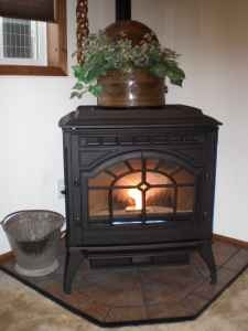 Beautiful Pellet Stove In Basement to Heat whole House