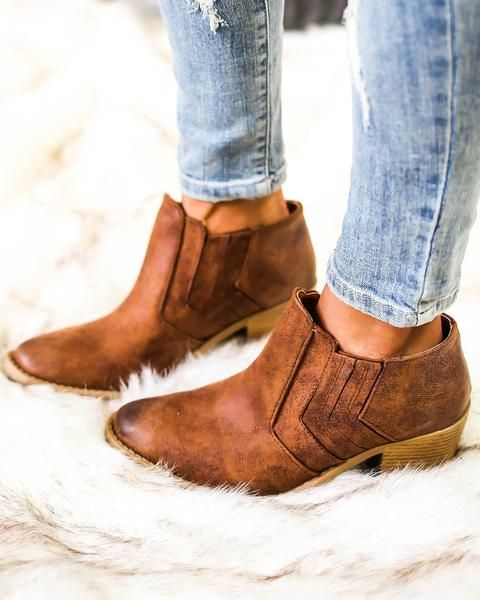 Chevy Bootie - Cognac - FLASH SALE