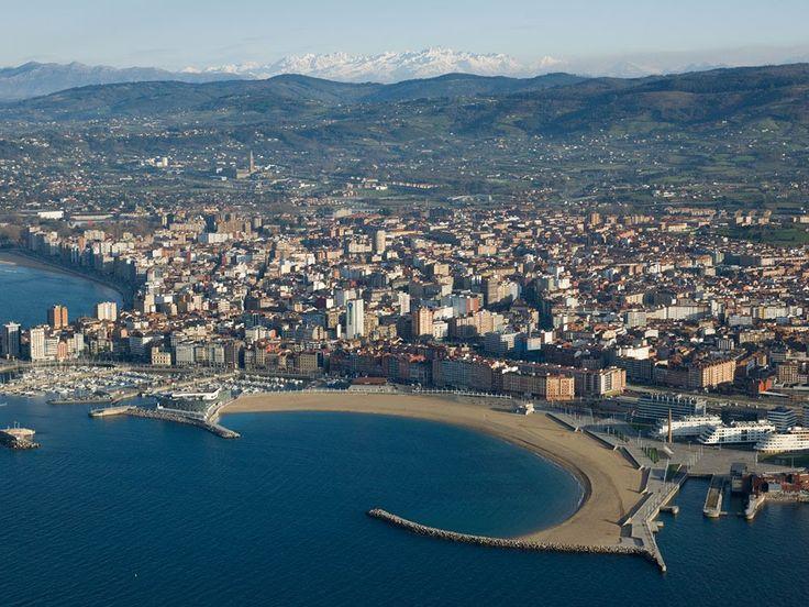 España a vista de pájaro playa de poniente Gijón Asturias - Spain: A bird's eye view - SkyscraperCity