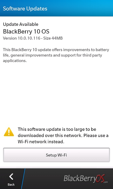 blackberry z10 update uber link
