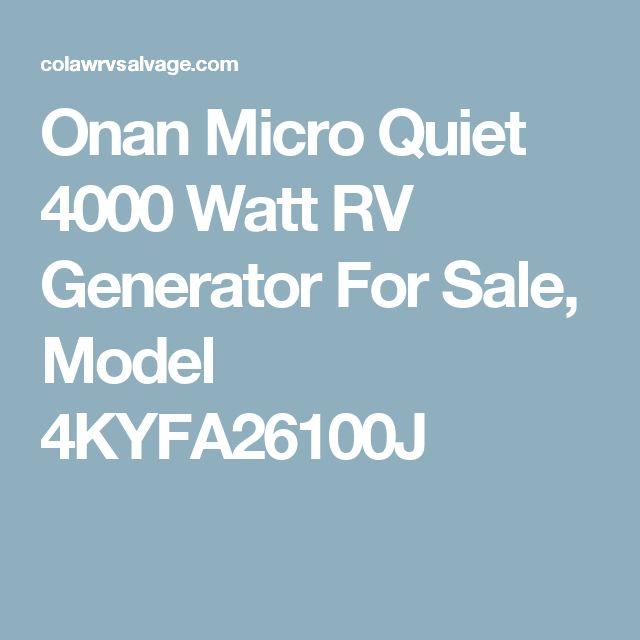 Onan Micro Quiet 4000 Watt RV Generator For Sale, Model 4KYFA26100J