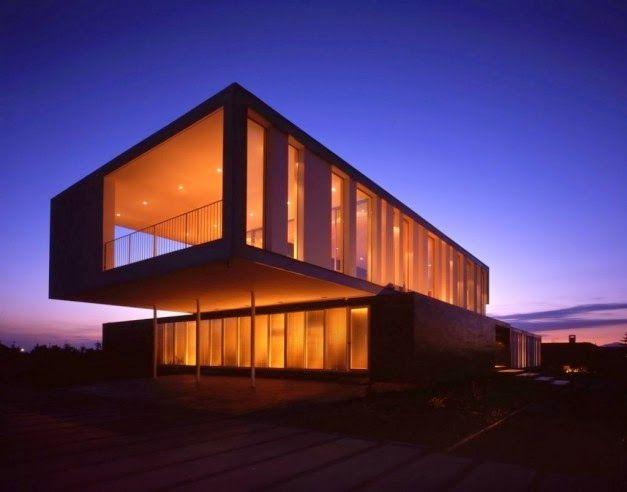 Desain Rumah Modern Dengan Tata Cahaya Futuristik   Griya Indonesia