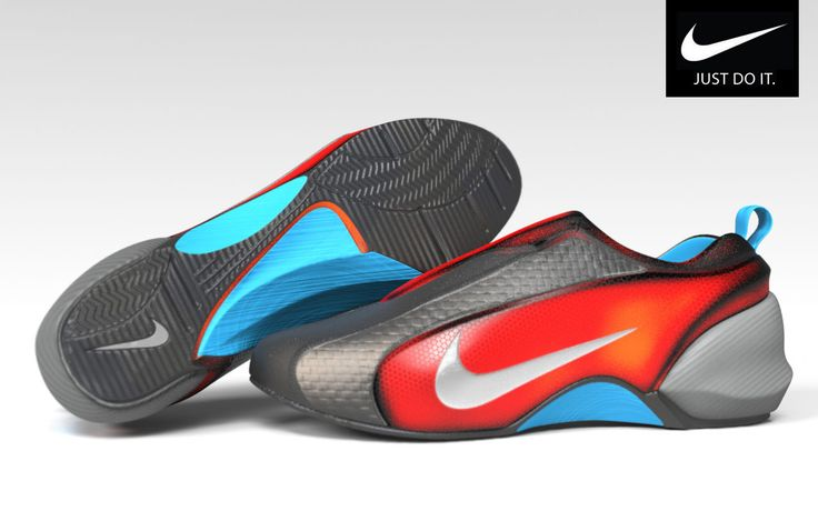 """The concept of sport shoes intently for the company """"Nike"""". For embodiments used the soft foundry modo"""