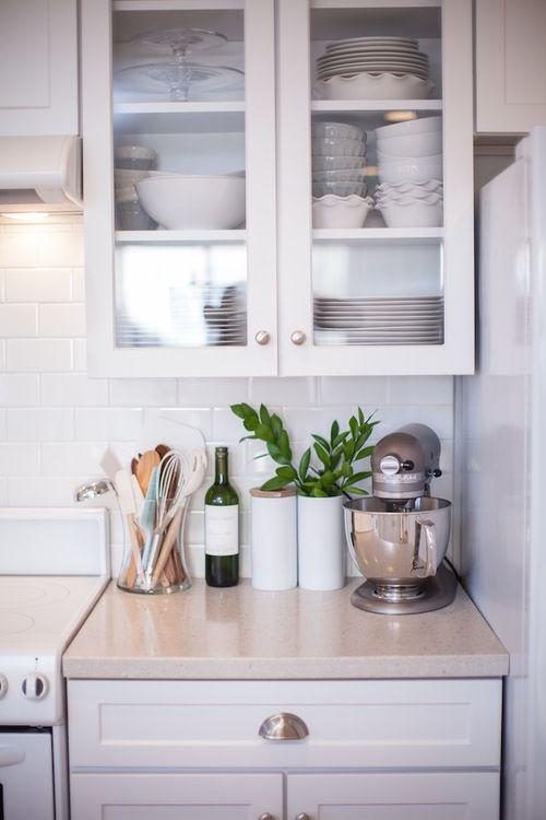 see through cabinets + utensil jar | liz bachman