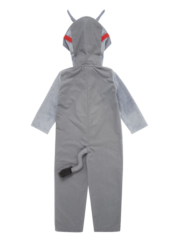 Play dress up this winter with this adorable donkey costume. The open hands and feet make it comfortable and easy to wear. The fun and playful facial features means it caters perfectly for children. Wear to parties or for play at home. Grey donkey costume Open hands and feet Keep away from fire
