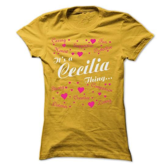 CECILIA THING AWESOME SHIRT - #boyfriend gift #housewarming gift. LIMITED TIME PRICE => https://www.sunfrog.com/Names/CECILIA-THING-AWESOME-SHIRT-Ladies.html?68278