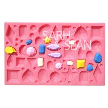 M0703 mini diamond drahokam drahých fondán dort formy Formičky na čokoládu mýdlo kuchyň pečení cukr dort výzdoba Tool