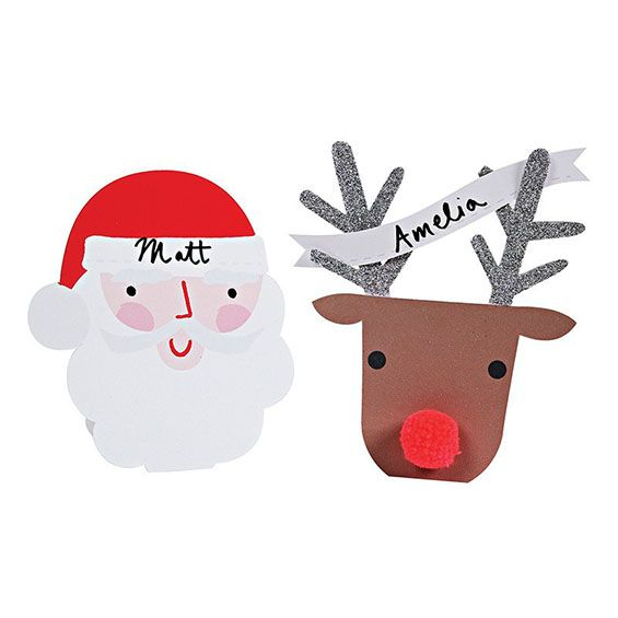 Santa and Reindeer Embelished Placecards