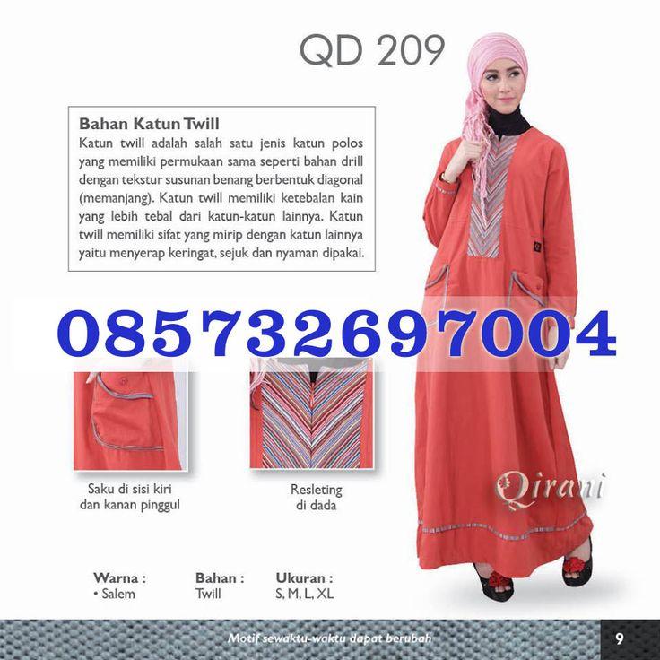 Gamis Qirani Model 209 Hubungi  085732697004 PIN BB D10F64D6