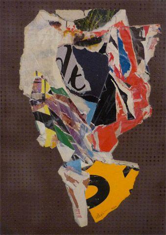 UNTITLED | villegle Arrachage et collage d'affiches sur isorel n°: villeglé-0312-004-2M5