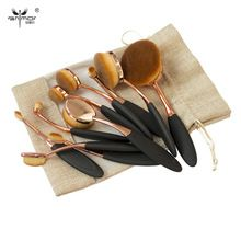 Rose Gold 10 pcs/5 pcs Tooth Brush Shape Oval Makeup Brush Set MULTIPURPOSE…