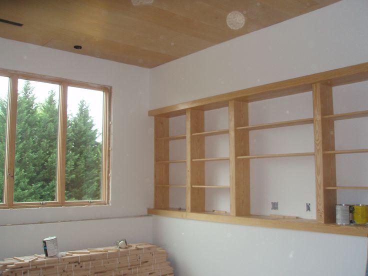 Built In Shelves On Ledge Great Idea For Basement Basement Remodeling Basement Walls Basement Bedrooms