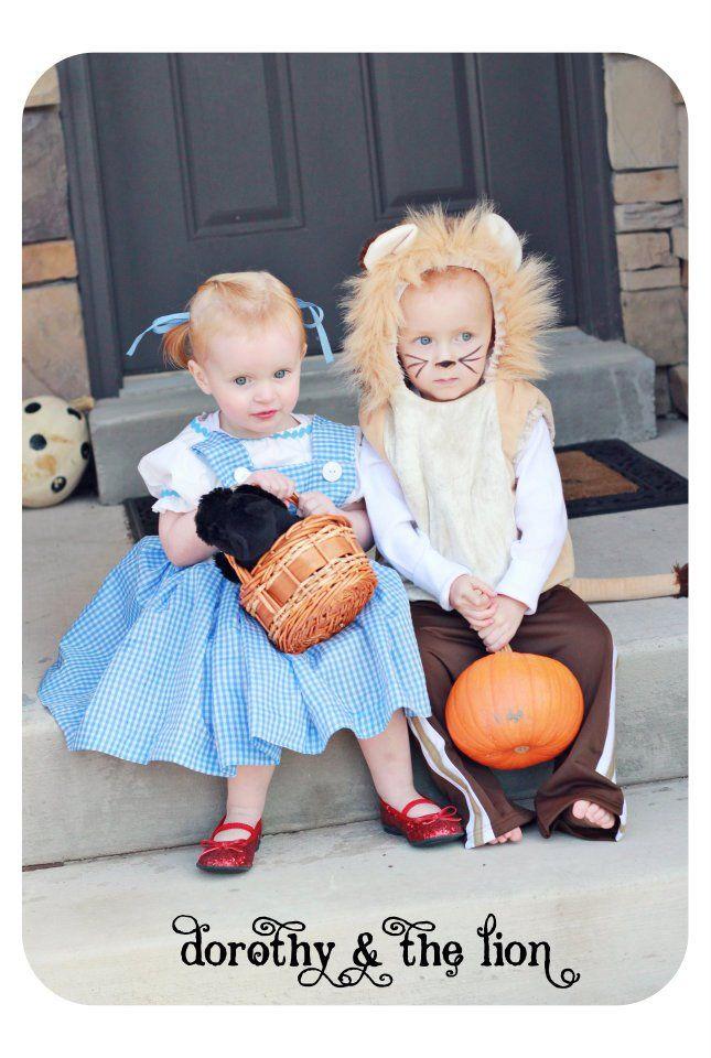 Boy Girl Twin Halloween Costume Idea- Dorthy & The Lion