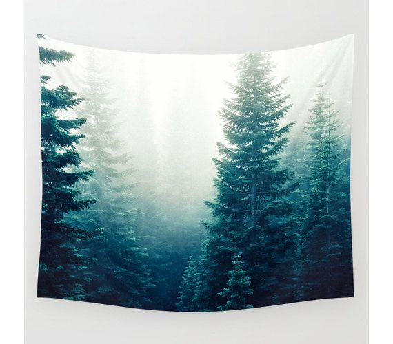 Wall Tapestry Tree Tapestry Wall Hanging Evergreen by StayWildCo