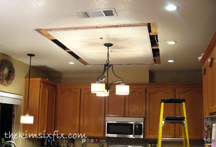 Replacing Updating Fluorescent Ceiling Box Lights With