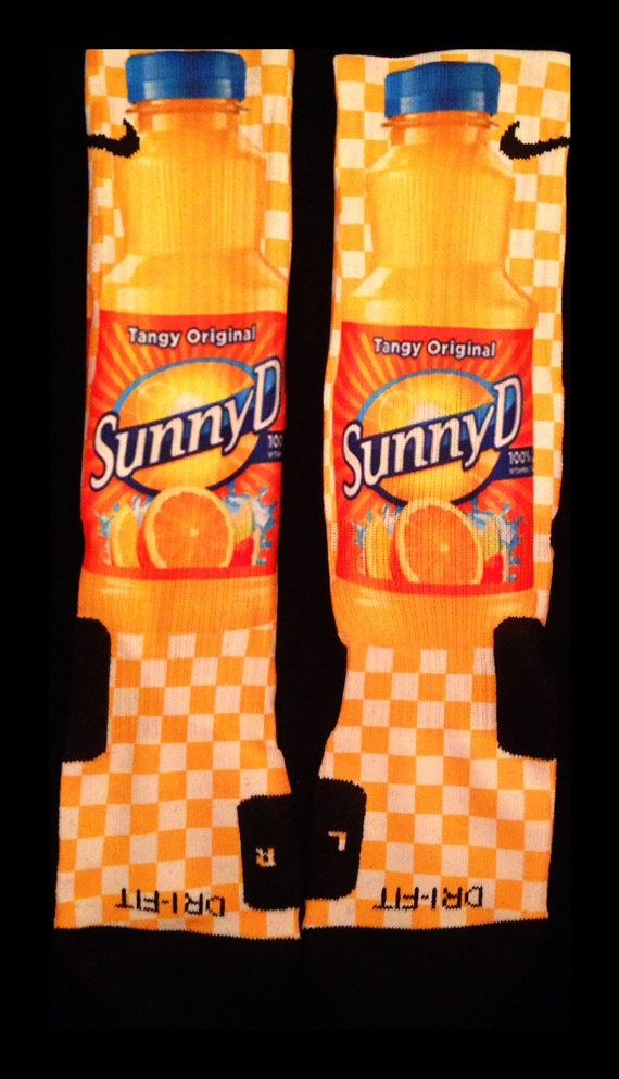 Sunny D Inspired Custom Nike Elite Socks by InWestCoastCreations