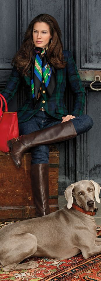 Jacket, jean, boots, dog, YES… just say no to scarf. Ralph Lauren. Shop direct from U.S. retailers and get your favorite products shipped anywhere in the world! Visit opas.com