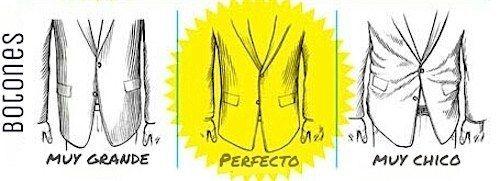 Así es como sabes si compraste la talla correcta de saco de vestir: | 17 Guías visuales de estilo que todo hombre necesita en su vida