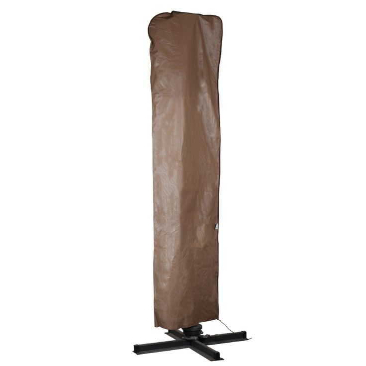 Abba Patio Outdoor Market Patio Offset Cantilever Umbrella/Parasol Cover for 9-11 Ft Umbrella, Water Resistant, Brown