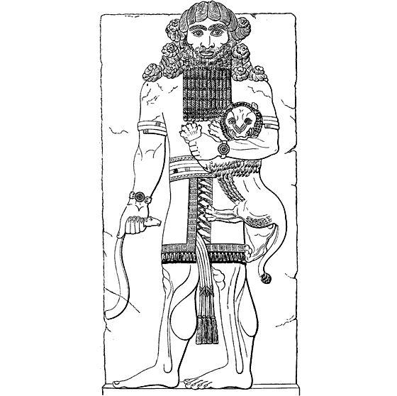 Гильгамеш, душащий льва