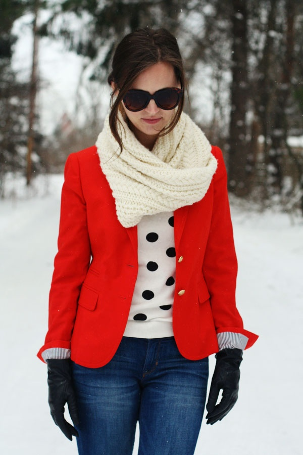 my everyday style: red on a winters day!