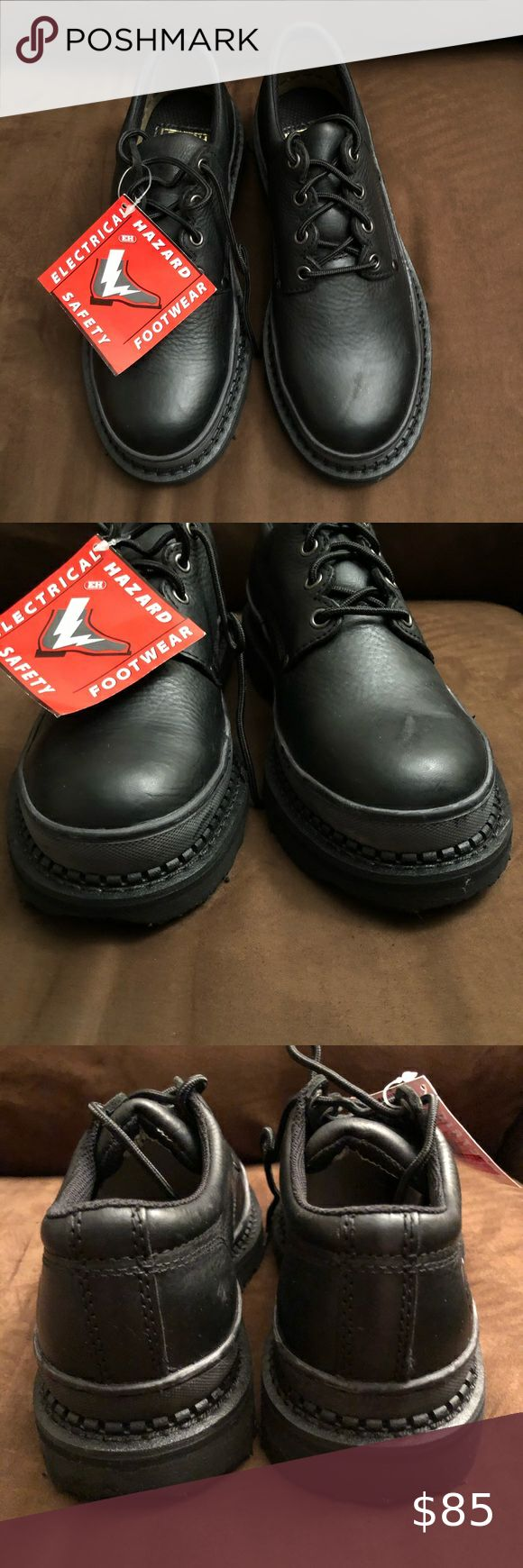 Lehigh Safety Work Shoes Unisex Black Leather 7.5 in 2020