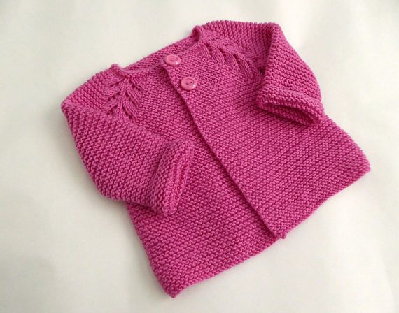 2b4ee046a Hand knit baby sweater