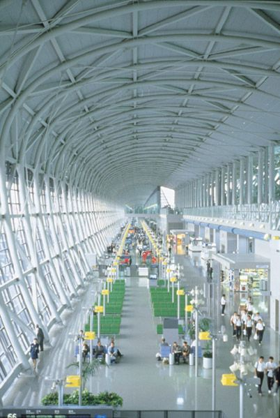 Renzo Piano 1998 Laureate, Kansai International Airport Terminal, Osaka, Japan, 1994