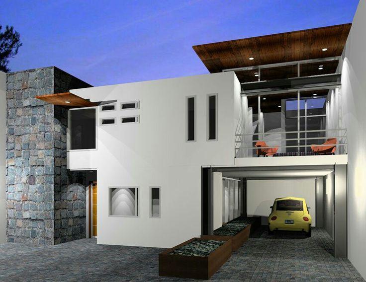 Casa minimalista casas modernas pinterest for Mini casa minimalista