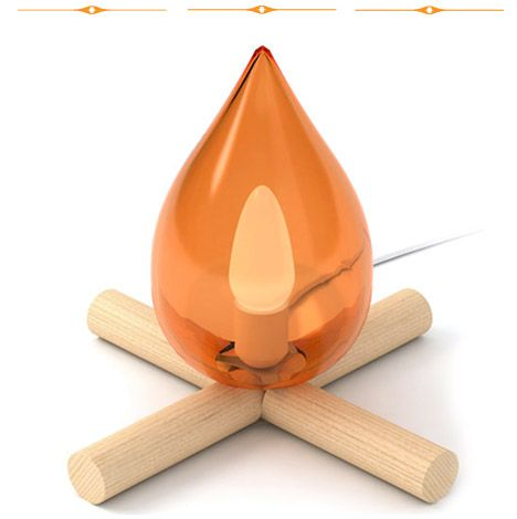 Fire Kit Lamp by 5.5. This is so cute. And, it's perfect for my national parks-inspired kids room.