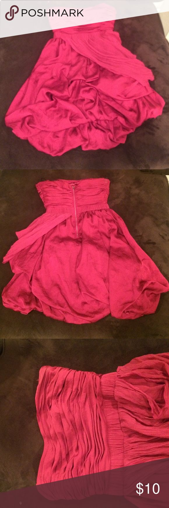 Short pink dress Short pink going out dress! Has been worn a couple of times. It's from BEBE so the material is really good! bebe Dresses Mini