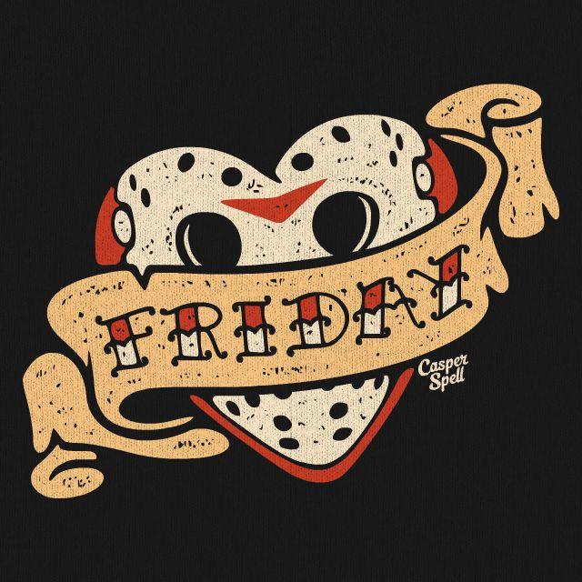 Friday the 13th Art Tattoo TShirt Jason Vorhees Horror Casper Spell (www.CasperSpell.com)