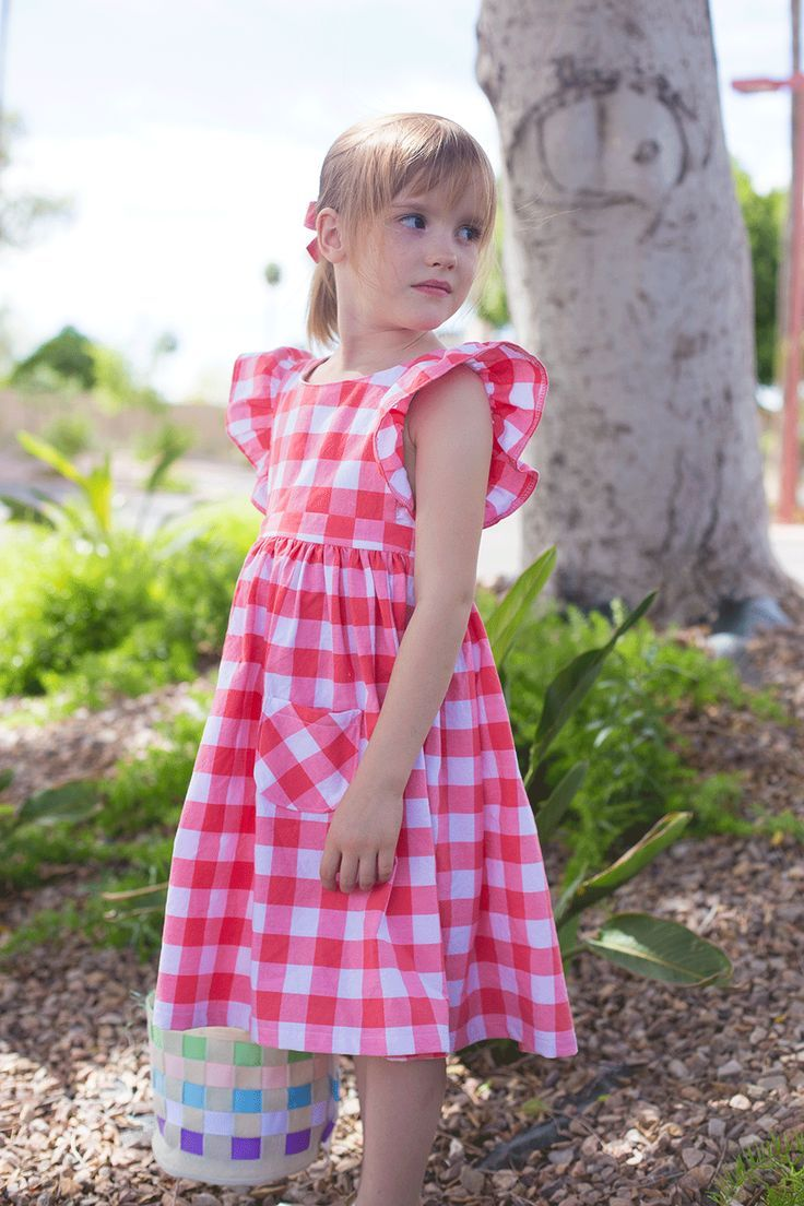 Pinafore Patten Hack - get the tutorial for this sewing pattern hack to make an adorable little girls pinafore dress (or top!) from a versatile pattern!