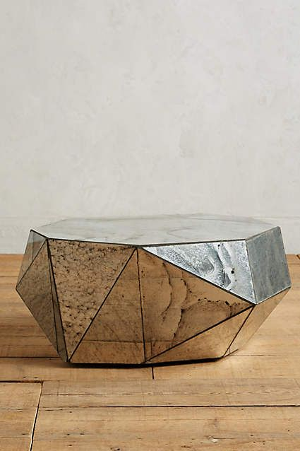 Faceted Mirror Coffee Table - anthropologie.com