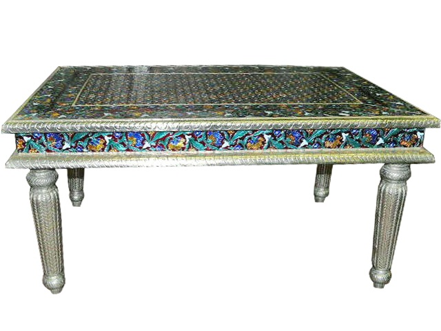 Hand Painted Enamel Meenakari Coffee Table India Furniture Tables Pinterest