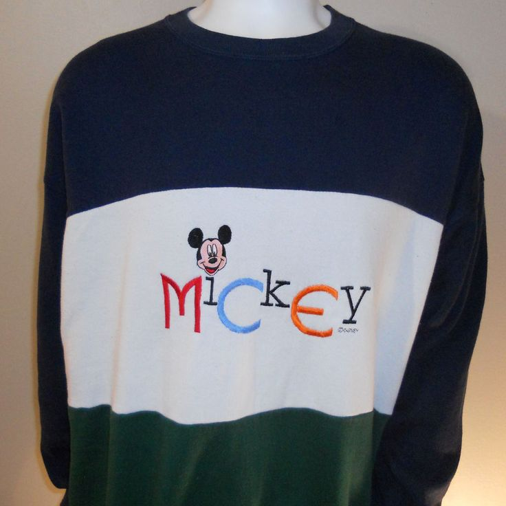 Mickey Mouse Sweatshirt Extra Large Walt Disney World Disneyland Genus #Disney #MickeyMouse