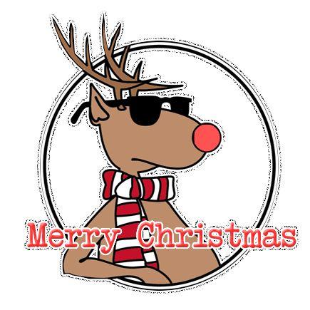 Cool Reindeer Sunglasses Animated GIF