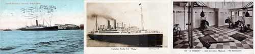 Vintage Steamship Postcard Archives