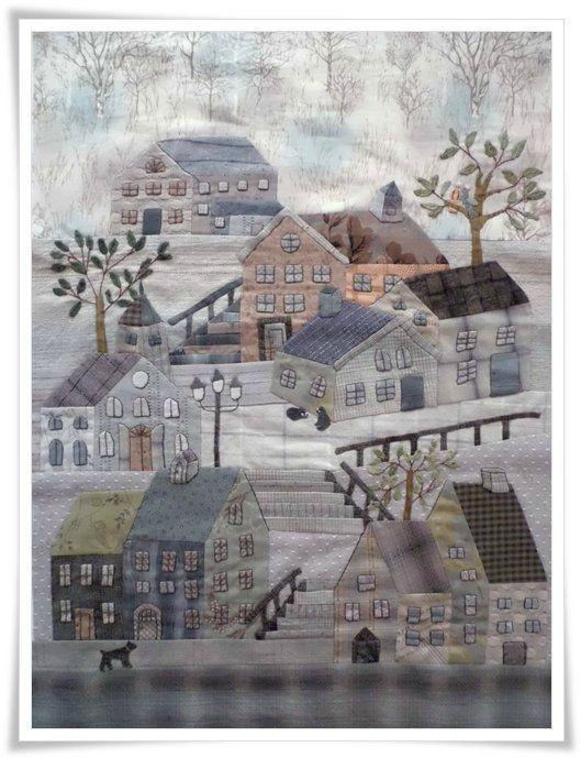 300 Best Village Amp Town Quilts Images On Pinterest House