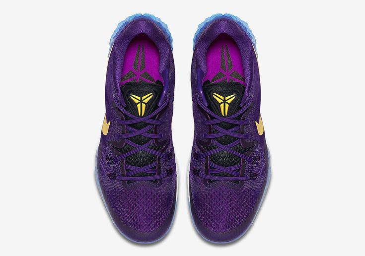 February 14,2017 Shoes Nike Zoom Kobe Venomenon 5 Lakers Court Purple 853939 570 Gold