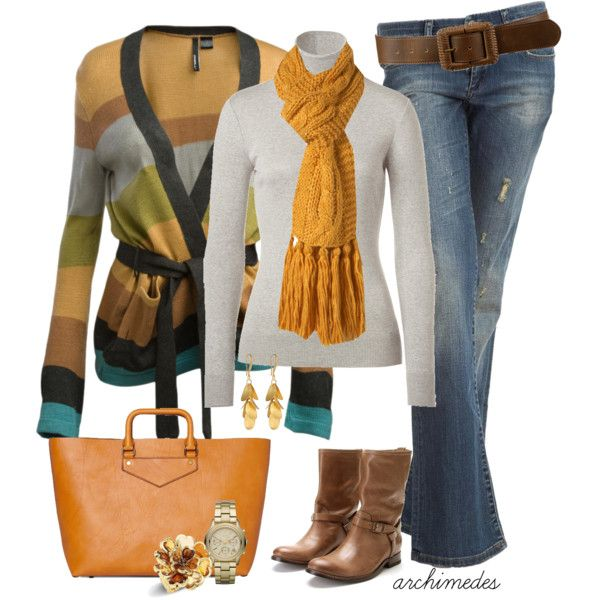 autumn styleFashion, Clothing, Colors, Stripes Sweaters, Autumn Style, Winter Outfit, Fall Winte, Yellow Scarf, Fall Outfit