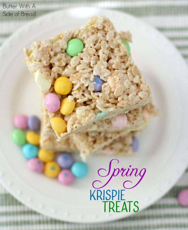 Spring Krispie Treats:: Butter With A Side of Bread