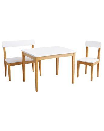 Kindersitzgruppe CLASSIC STYLE 3-teilig in weiß/natur von roba ✔ Kurze Lieferzeit ✔ Jetzt bei tausendkind kaufen!