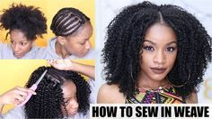 How To: Natural Hair Sew-in Weave Start to Finish [Video]  Read the article here - http://blackhairinformation.com/video-gallery/natural-hair-sew-weave-start-finish-video/