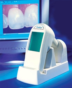 The ShadeVisionTM System takes the guesswork out of measuring and communicating tooth shades.    It is designed to ensure that each dental prosthesis matches not just the tooth it replaces, but the teeth surrounding it. This system allows Dr. Parnes to create a perfect color match with the surrounding teeth when making a porcelain restoration.