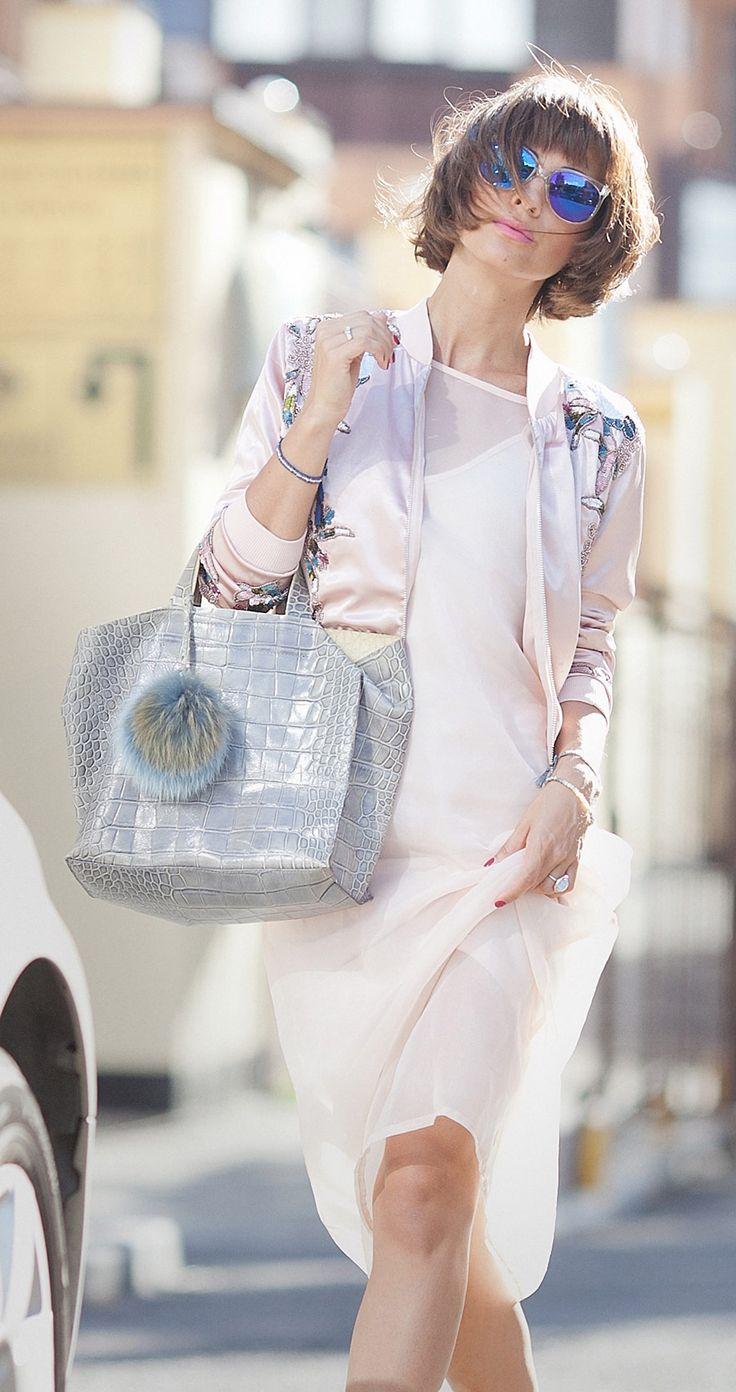 furla bag, satin bomber jacket, embellished bomber, vans sunglasses, blue mirrored shades, nude colors outfits for summer,