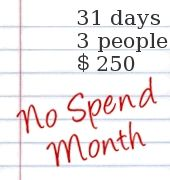 How to do a no spend month; also this blog has lots