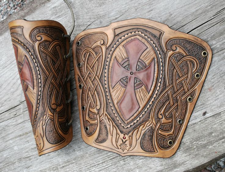Beautiful work, love the scallops on the knot work and the colors are great! Bracers#2 by Sharpener.deviantart.com on @deviantART