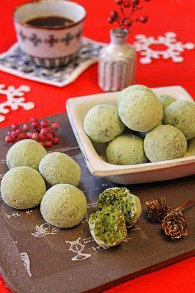 「バター不使用抹茶のクリスマススノーボール」ぱお   お菓子・パンのレシピや作り方【corecle*コレクル】